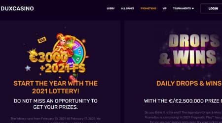 Dux casino promotions