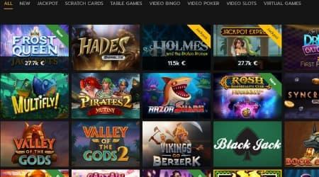 Horus Casino Games selection