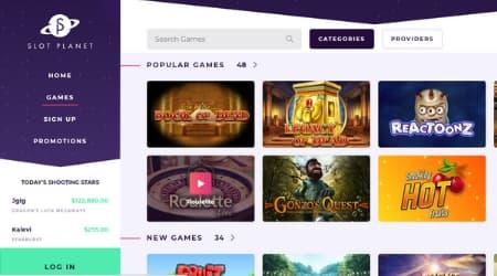 Slot Planet online casino games