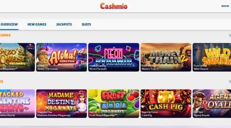 Cashmio online casino games