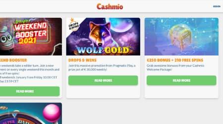 Cashmio online casino promotions