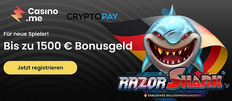 Casinome Bonus Banner Bis 1500 Euro Bonus