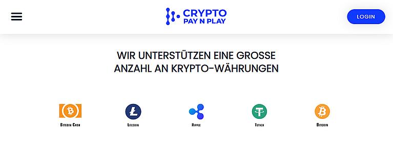 Crypto Pay N Play Währungen