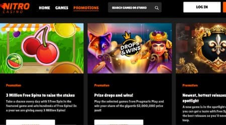 Nitro casino Promotions and bonuses