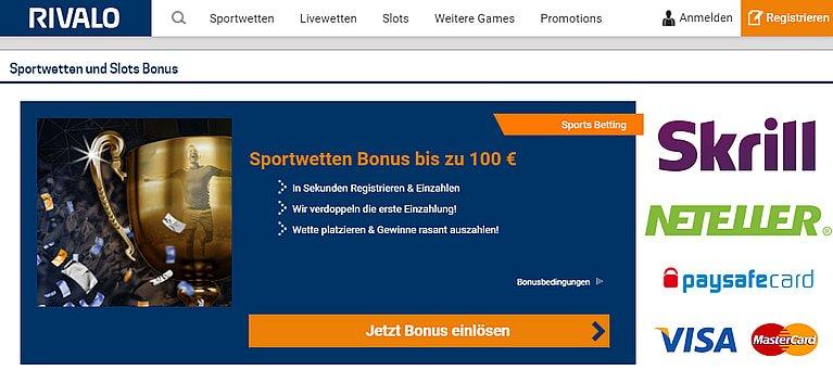 Rivalo Bonus Sportwetten