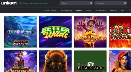 Unirkn online casino games