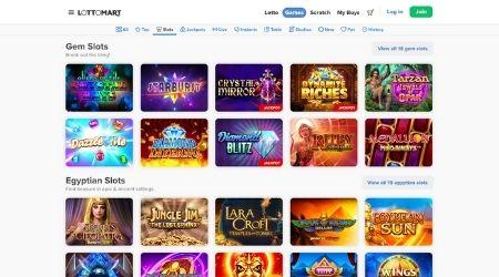Lottomart casino games