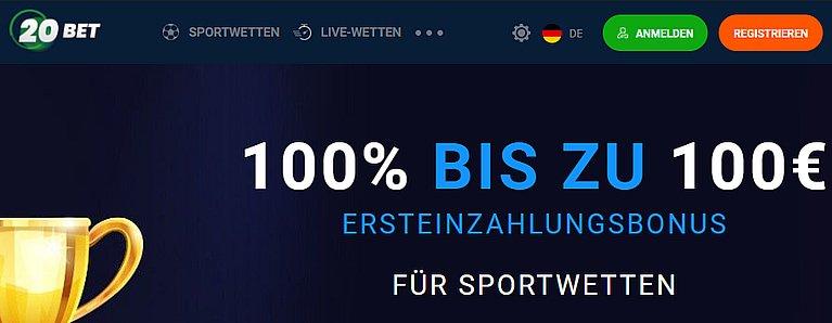 20Bet Sportwetten Bonus