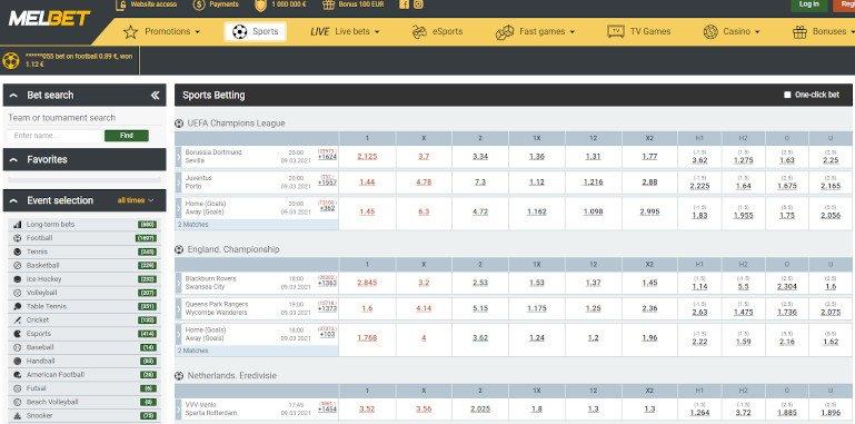 Melbet Casino India Sports Betting Oddds