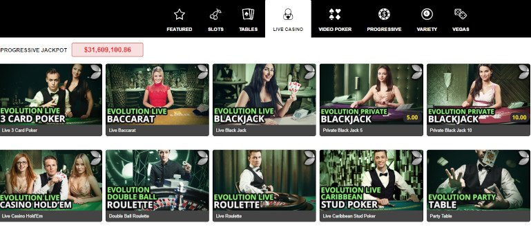 Royal Vegas Casino India Live Casino Game Selection