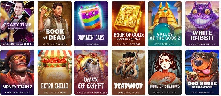 Tsars Casino India Game Selection