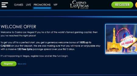 Casino Las Vegas welcome offer