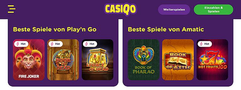 Casiqo Slot Spiele