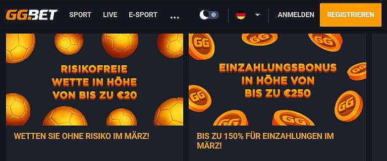 GG.Bet Sportwetten Bonus