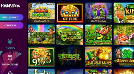 Kahuna online casino games