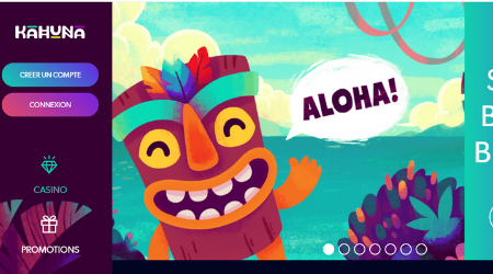 Kahuna online casino welcome bonus