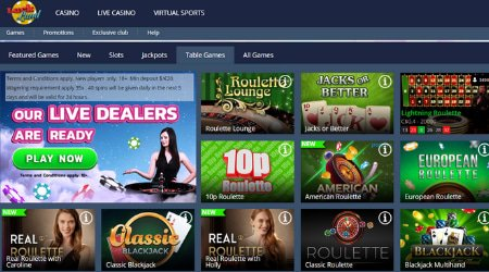 Luckland Casino Live Games