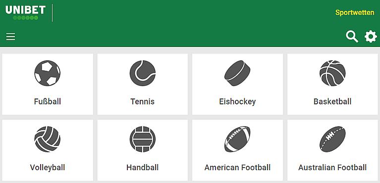 Unibet Sportwetten & Quoten