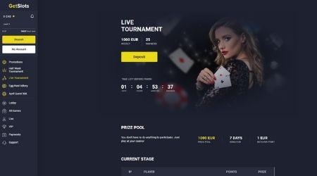 Getslots casino live tournament