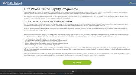 Euro Palace Loyalty Program