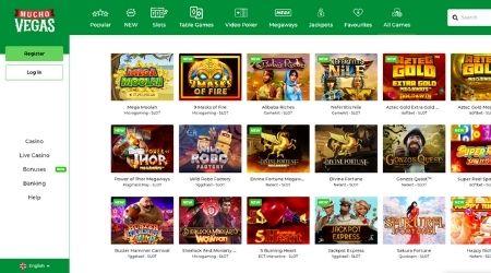 Mucho Vegas Casino game selection