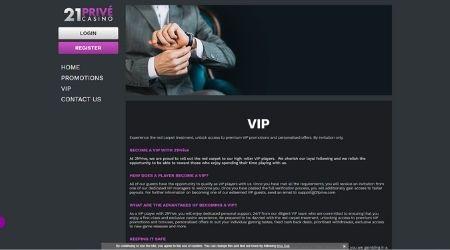 21prive casino homepage