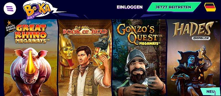 Bokacasino Slot Spiele