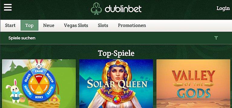 Dublinbet Slot Spiele