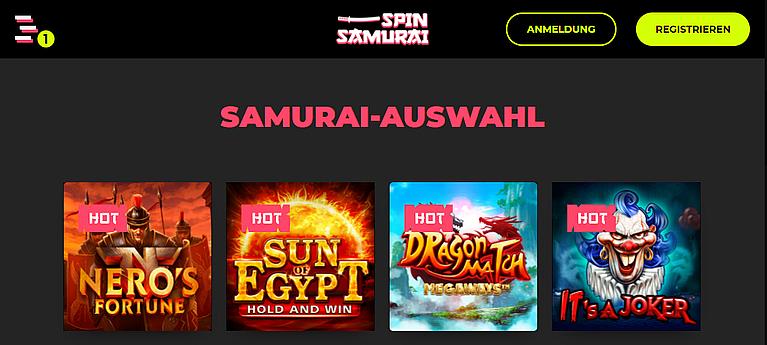 Spin Samurai Slot Spiele
