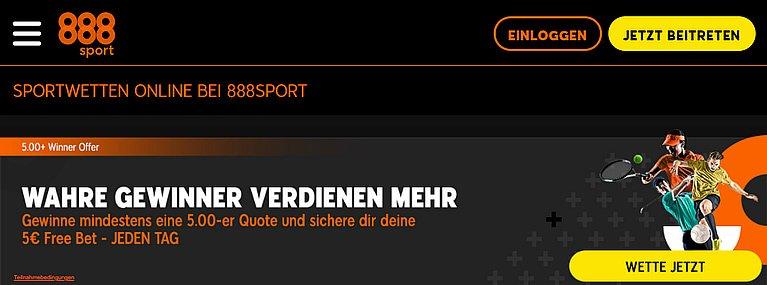 888sport Sportwetten Online
