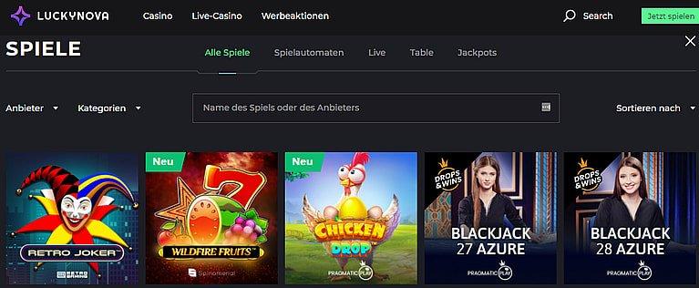 Luckynova Casino Slots